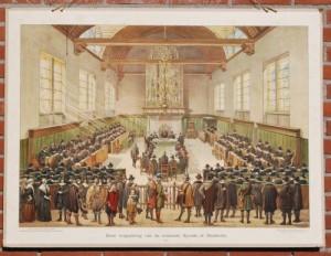 Een vergadering van de Nationale Synode te Dordrecht, 1619,